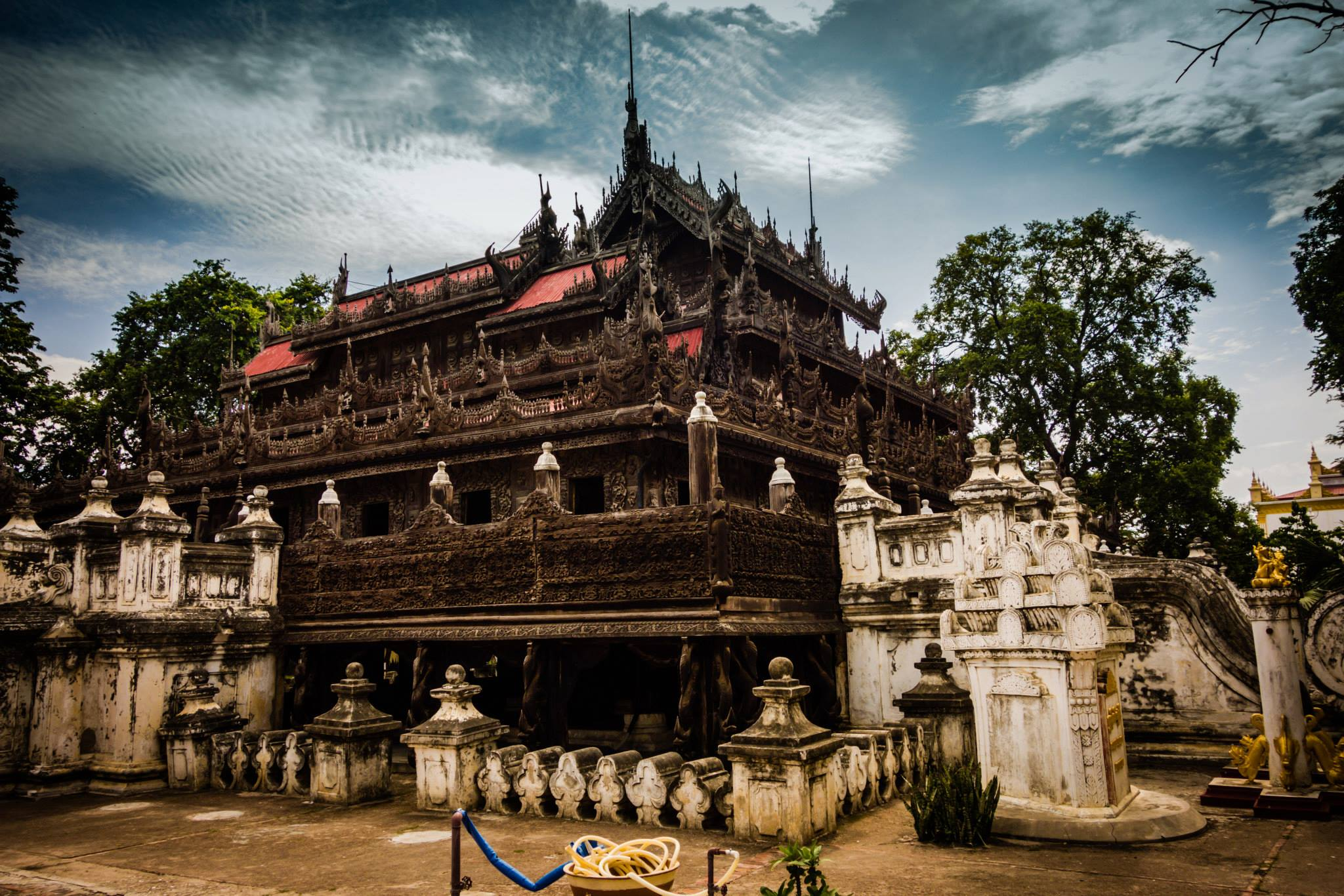 Top ten attractions in Myanmar holiday packages: Shwenandaw Monastery